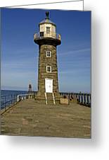 Disused East Pier Lighthouse - Whitby Greeting Card