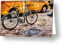 Ditchin' The Taxi To Ride Greeting Card