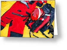 Diver Emergency Rescue Kit Greeting Card