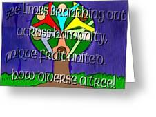 Diversity Tree Greeting Card