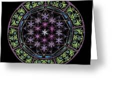 Divine Feminine Energy Greeting Card by Keiko Katsuta