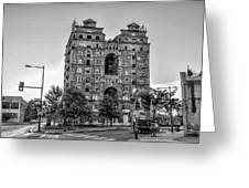 Divine Lorraine In Pain - Black And White Greeting Card