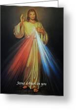 Divine Mercy Jesus Greeting Card