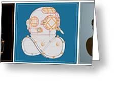 Diving Helmet Mark V Greeting Card