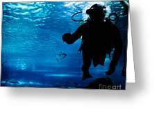 Diving In The Ocean Underwater Greeting Card