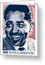 Dizzy Gillespie Portrait Greeting Card