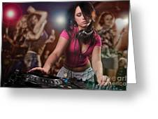 Dj Girl Greeting Card