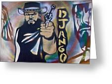 Django Three Faces Greeting Card