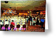 Do You Come Here Often ? Casino Slot Machine Pick Up Lines As You Gamble Your Life Savings Away Greeting Card
