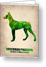Doberman Pinscher Poster Greeting Card by Naxart Studio