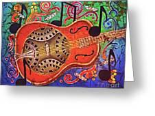 Dobro-slide Guitar-2 Greeting Card