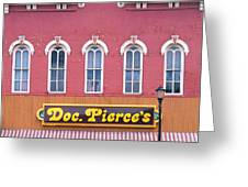 Doc Pierces Restaurant And Saloon Building Detail Greeting Card