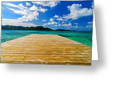 Dock And Beautiful Water Greeting Card
