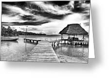 Dock At Drago Greeting Card by John Rizzuto