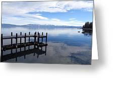 Dock At Sugar Pine Point Greeting Card