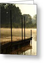 Dock In The Mist Greeting Card