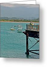 Dock Overlooking Quepos Bay-costa Rica Greeting Card