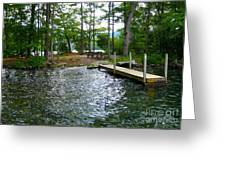 Dock Side Camping Greeting Card