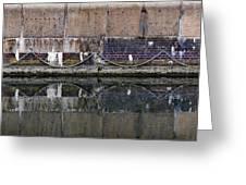 Dock Wall Greeting Card by Mark Rogan