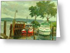 Docked Boats Greeting Card