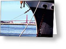 Docked In San Francisco Bay Greeting Card
