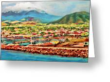Docked In St. Kitts Greeting Card