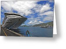 Docked In St. Thomas  The Virgin Islands Greeting Card