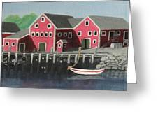 Docked - Original Sold Greeting Card