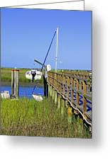 Docked On The Bay Greeting Card