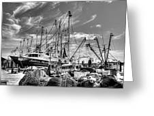 Docked Shrimper Greeting Card