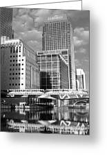 Docklands London Mono Greeting Card