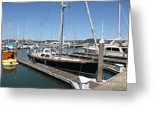 Docks At Sausalito California 5d22688 Greeting Card by Wingsdomain Art and Photography