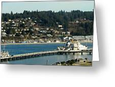 Docks Of Yaquina Bay Greeting Card
