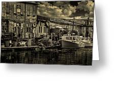Dockside  Greeting Card by Bob Orsillo