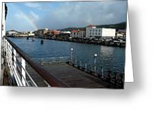Dockside Rainbow  Greeting Card
