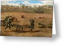 Doctor - Demonstrating A Wheel Litter  Greeting Card