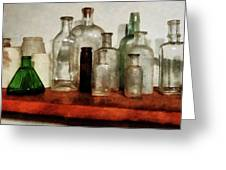 Doctor - Medicine Bottles Tall And Short Greeting Card