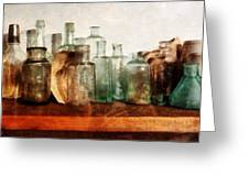 Doctor - Row Of Medicine Bottles Greeting Card