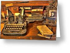 Doctor - The Physician's Desk II Greeting Card by Lee Dos Santos