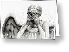 Doctor Who Weeping Angel Don't Blink Greeting Card