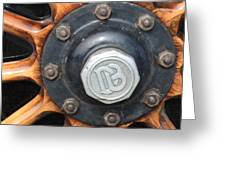 Dodge Brothers Hubcap And Spokes Greeting Card