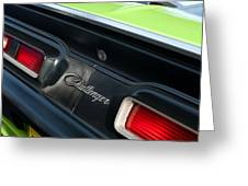 Dodge Challenger 440 Magnum Rt Taillight Emblem Greeting Card by Jill Reger