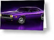 Dodge Challenger Hemi - Shadow Greeting Card by Marc Orphanos