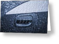 Dodge Charger Frozen Car Handle Greeting Card