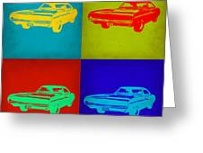 Dodge Charger Pop Art 2 Greeting Card