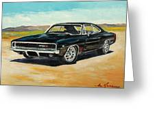 Dodge Charger Rt 1970 Greeting Card