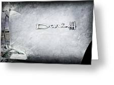 Dodge Dart 440 Emblem Greeting Card