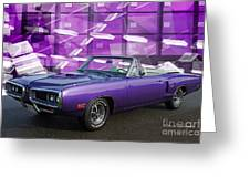 Dodge Rt Purple Abstract Background Greeting Card