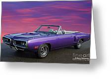 Dodge Rt Purple Sunset Greeting Card