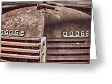 Dodge Rustbucket Greeting Card